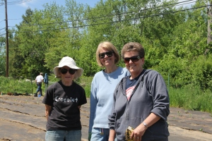 Photo of Littleton Community Farm members volunteering at Church Meadows